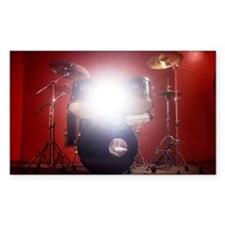 Drum kit in music studio with  Decal