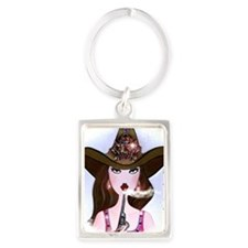 Diva of a Cowgirl Portrait Keychain
