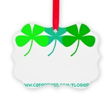 St. Patricks Day Irish Shamrock T Ornament