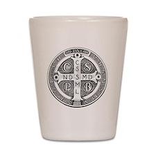 Medal of Saint Benedict Shot Glass