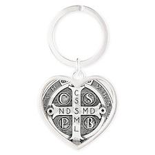 Medal of Saint Benedict Heart Keychain