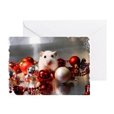 White dwarf hamster posing in Christ Greeting Card