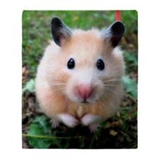 Syrian hamster outdoors Throw Blanket