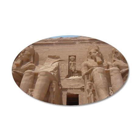 Pharaoh Ramesses II Temple a 35x21 Oval Wall Decal