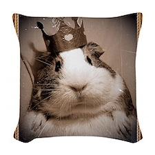 Victorian portrait of regal gu Woven Throw Pillow