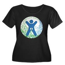 The Inta Women's Plus Size Dark Scoop Neck T-Shirt