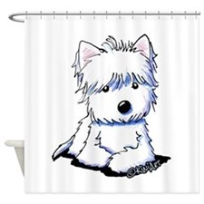 Sweetieface Westie Shower Curtain
