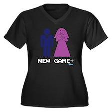 New Game Plu Women's Plus Size Dark V-Neck T-Shirt
