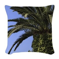 Palm tree Woven Throw Pillow