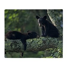 Black bear cubs in tree, Great Smoky Throw Blanket