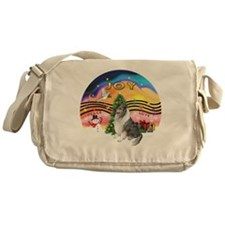 XMusic2-BlueM Collie Messenger Bag