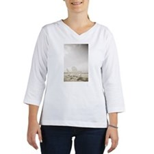 Adirondack chairs on the beach Women's Long Sleeve Shirt (3/4 Sleeve)