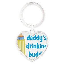 Daddys Drinking Buddy Heart Keychain