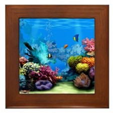 Tropical Fish Aquarium with Bright Col Framed Tile