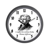 """Must Have Books"" Wall Clock"