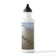 Jamaica Beach Words Sports Water Bottle
