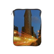 Tail lights at night in New York City iPad Sleeve