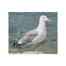 European Herring Gull Throw Blanket