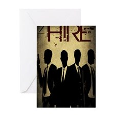 4Hire Graphic Poster w/tint Greeting Card
