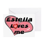 estella loves me  Greeting Cards (Pk of 10)