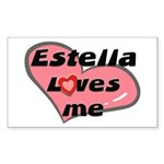 estella loves me Rectangle Sticker