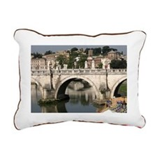 Bridge over the river Ti Rectangular Canvas Pillow