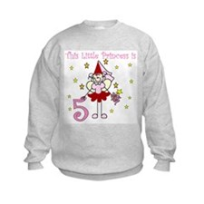 Fairy Princess 5th Birthday Sweatshirt