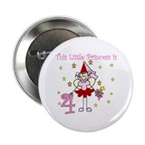 Fairy Princess 4th Birthday Button