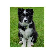 Collie puppy dog Throw Blanket