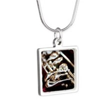 Oboesity Silver Square Necklace