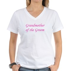 Grandmother of the Groom Women's V-Neck T-Shirt