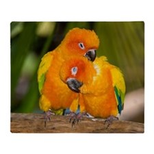 Sun Conures Throw Blanket