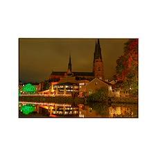 Autumn night in Uppsala Rectangle Magnet