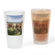 Guernsey calves Drinking Glass
