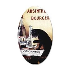 Vintage Chick Absinthe Bourg Wall Decal