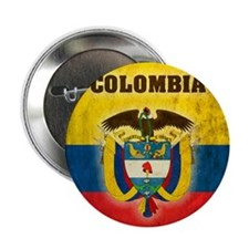 "Vintage Colombia 2.25"" Button"