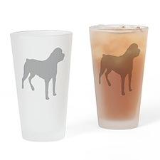 Rottweiler Silhouette Drinking Glass