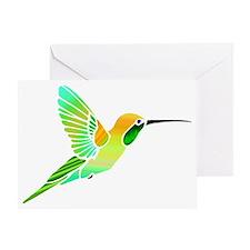 Lemon Lime Sorbet Hummingbird Greeting Card