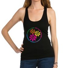 SOCIAL WORKER CIRCLE DAISIES Racerback Tank Top