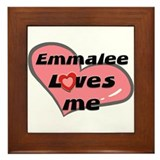 emmalee loves me  Framed Tile
