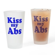 Kiss my Abs Drinking Glass