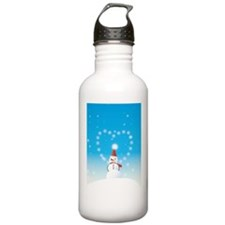Snowman wearing Christ Water Bottle