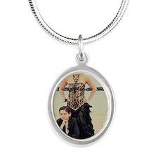 valerie schmidt Silver Oval Necklace