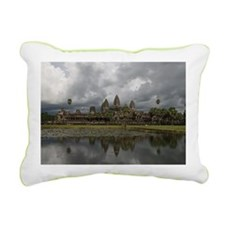 Storm Clouds over Angkor Rectangular Canvas Pillow