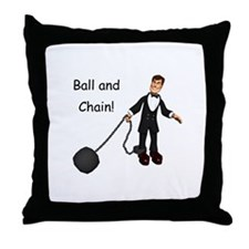 Ball and chain Throw Pillow