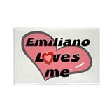 emiliano loves me Rectangle Magnet