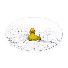 Rubber Duck Spray Oval Car Magnet