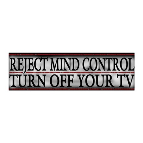 TV Mind Control - 20x6 Wall Decal