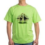 Brown Red Moderns Green T-Shirt