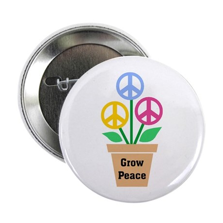 Grow Peace 2 2.25 Inch Buttons ~ Pack of 10